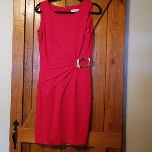 Calvin Klein red sleeveless dress